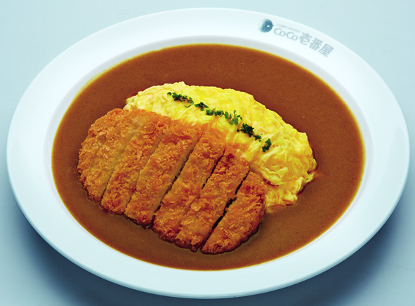 Pork Cutlet Omelette Curry